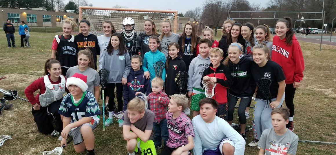 Just a bunch of Crofton Laxers getting ready for the 2018 season in Dec, 2017