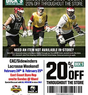 Dick's Sporting Goods 20% Off!!
