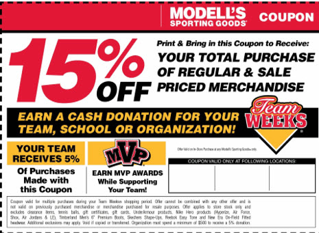 Models is going to do an equipment donation from March 11-25 and giving a 15% discount with any donation provided.