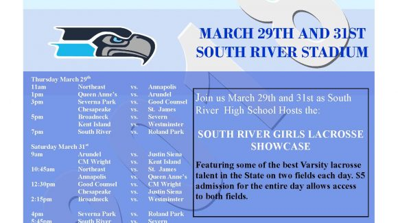 2018 South River Girls Lacrosse Showcase Schedule