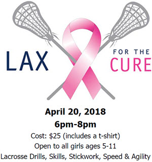 LAX for the Cure Drills, Skills, Stickwork, Speed & Agility Clinic