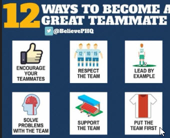 12 Ways to be a Great Teammate & Successful & Unsuccessful Athlete