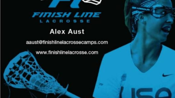 $100 off Finish Line Lacrosse Camp!!  w/ Alex Aust  July 9-12th 9am-1pm Severna Park Grades 2nd-9th
