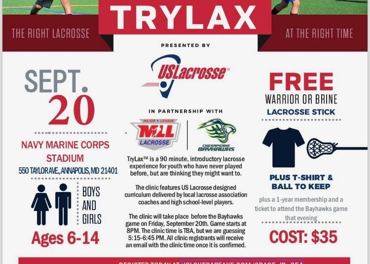 Try LAX! Only $35 includes Stick, ball & a tee shirt!!