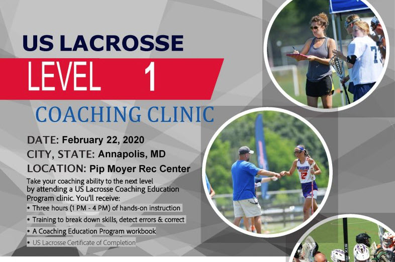 Coaches Clinics!  Level 1 & 2   Please see post for info