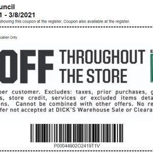 20% Off at Dick's Sporting Goods in Crofton!!  Best deal of the year!